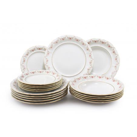 Plate set 18-piece - Rose...