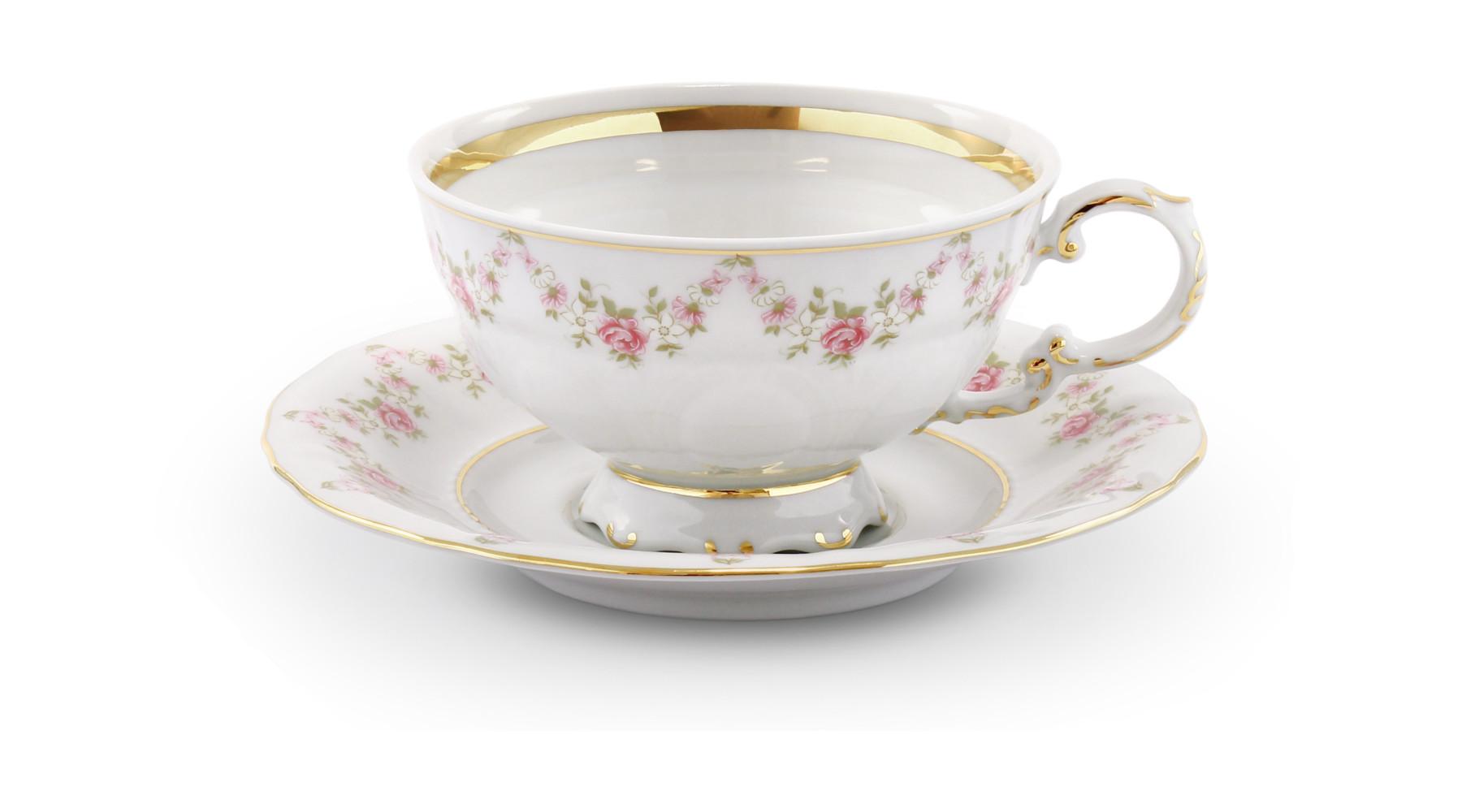 Cup and saucer Rose garland